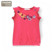 女童背心 女孩宝宝短袖T恤 儿童打底衫 童装春夏装