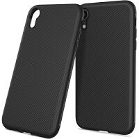 苹果iphone xr手机壳斜纹后盖式防滑防摔 6.1寸保护壳