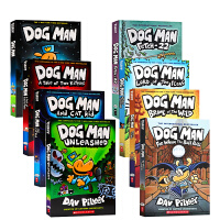 【全店300减100】英文原版 神探狗狗的冒险 Dog Man 1-8册全套 内裤超人captain underpant