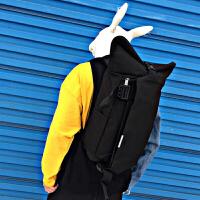 双肩包男帆布包休闲运动背包男时尚潮流韩版青年旅行包户外大容量
