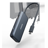 HDMI扩展坞USB-C苹果笔记本转换器60WPD快充typec四合一HUB (1 USB-C+2 USB-A+1 H