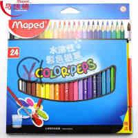 法国Maped马培德24色水溶彩色铅笔 儿童彩铅 三角杆 易抓握836013