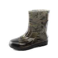 时尚雨靴男士保暖男短筒中筒防水鞋加绒厨房鞋水靴男套鞋