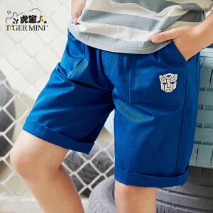小虎宝儿变形金刚童装男童短裤外穿2018夏季新款五分裤中大童夏装