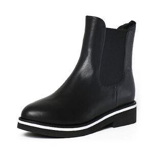 Tata/他她冬季牛皮时尚休闲方跟女短靴FE341DD6