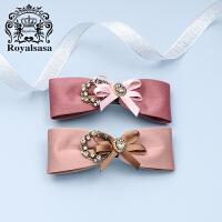 皇家莎莎(Royalsasa)头饰发夹顶夹发卡子手工发饰盘发马尾夹弹簧夹横夹首饰品