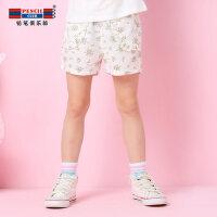 【每满100减50】铅笔俱乐部女童夏装2018新款短裤夏季童装儿童外穿薄款女孩热裤子
