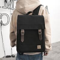 工装双肩包休闲初中高中学生书包男时尚潮流街头个性旅行电脑背包 公文包
