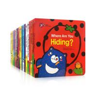 【顺丰包邮】英文原版 Honey English 点读版甜心英语第一辑20册全套装 0-3-6岁进口趣味触摸翻翻操作洞