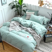 家纺四件套全棉纯棉简约1.8m床上用品床单被套公主风