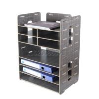 创意木质桌面办公用品A4A5票据快递单打印机多层文件架座框包邮