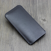 超薄黑莓BlackBerry 手机套壳Key2直插皮套 保护套内胆包袋 加大版 羊皮纹黑色