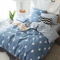 床上四件套简约网红床单被套被单人床上三件套1.5床笠