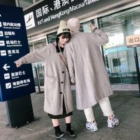 2018情侣大衣一男一女冬季新款韩版学生风衣中长款加厚毛呢外套潮 夹棉款