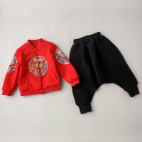 过年喜庆宝宝装中国风汉服拜年服男宝宝周岁礼服儿童唐装男童套装
