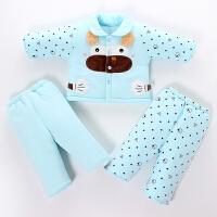 0-1岁新生儿衣服婴儿秋冬季加厚棉衣套装初生男宝宝女童棉袄外套