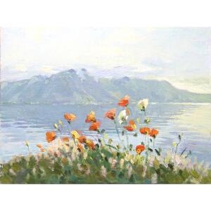 0566 莫斯科美术家协会会员 伊琳娜 《罂粟花》