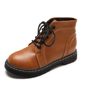 WARORWAR新品YM10-F7-1冬季英伦磨砂反绒平底舒适女士靴子短靴