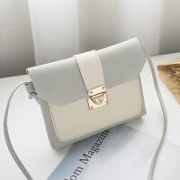 19新款拼接小包女包韩版时尚撞色单肩斜跨小包包迷你包1005-1