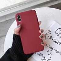 P苹果X手机壳XR简约xsmax纯色iphone7套8plus女6S抹茶绿Xmax黑6红iphone 苹果XS max