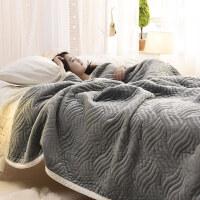 毛毯加厚珊瑚绒毯子薄被子盖毯法兰绒冬季空调毯午睡毯单双人床单 200cmx230cm 厂家直销-保证