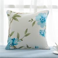 田园北欧风花朵条纹简约浪漫滚边靠垫套抱枕腰枕卧室沙发含芯