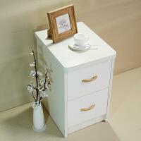 家居生活用品小床头柜迷你简约25/30/35/40cm储物小户型卧室白色超窄边柜 整装