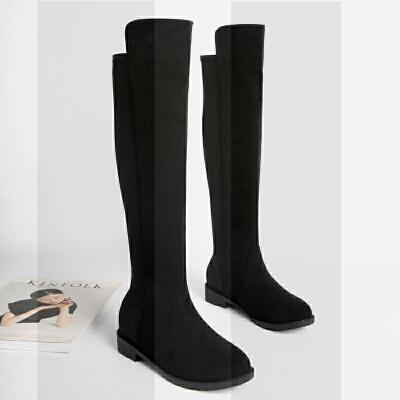 大码女靴41-43不过膝长靴女秋冬季新款大号长筒靴胖腿粗靴子40-42SN4150