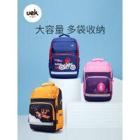 uek小学生书包双肩背包1-3-4-6年级男生女孩儿童6-12周岁轻便公主
