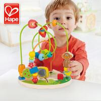 Hape森林游乐园绕珠1-3-6岁宝宝益智婴儿智力大号串珠儿童玩具