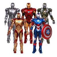 钢铁侠DST可动手办模型玩偶礼物摆件爱国者美国队长IRON MAN 全关节可动 钢铁侠