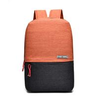 苹果华硕男士双肩背包女14笔记本15.6寸商务休闲时尚书包电脑包 热情橙 14寸