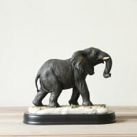 欧式创意大象摆件招财风水象店铺开业礼品镇宅乔迁新居装饰品礼物 大象