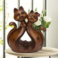 北欧现代家居饰品创意摆件客厅装饰品招财猫摆件结婚礼物新房装饰