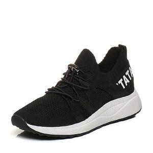 Tata/他她2018春专柜同款拼接运动风厚底女休闲鞋FAJ31AM8