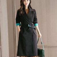 2018 新款外套女装2018年秋季新款潮流时尚韩版修身显瘦中长款女式风衣性感潮流