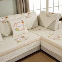 加厚沙发垫布艺全棉四季通用防滑坐垫全包套罩靠背巾垫子