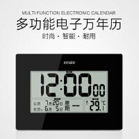 万年历电子钟客厅家用创意静音led大数字带温度计农历日历挂钟表