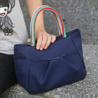 韩版女士小提包棉质帆布包时尚饭盒包便当袋小拎包休闲女布包