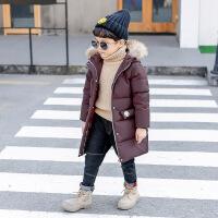 童装秋冬装男童白鸭绒羽绒服中长款2018新款儿童加厚外套宝宝韩版