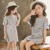 中大童女童夏装新款公主裙子连衣裙洋气韩版儿童女孩衣服背心