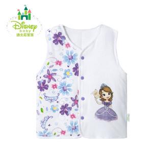 迪士尼Disney童装婴儿马甲纯棉男童女童马甲外衣加厚秋冬款164S874