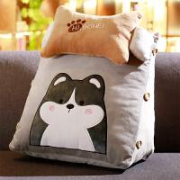 沙发飘窗护腰靠垫抱枕枕头可爱床头带头枕三角大靠背颈椎靠枕