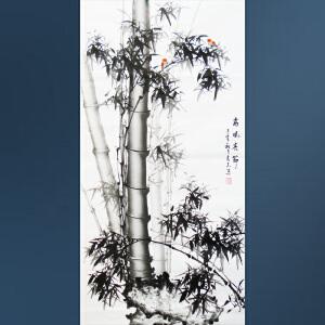 现代画竹画家  李良志   高风亮节   1106