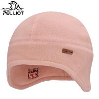 法国PELLIOT伯希和 抓绒帽 男女防风保暖无檐护耳帽冬季骑行套头帽包头帽