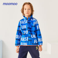 【2件1.5折价:23.85,可叠券】moomoo童装男童外套秋冬装新款儿童摇粒绒外套大童洋气保暖上衣