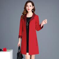 风衣女中长款两件套2018秋冬季新款韩版流行大衣码气质套装外套春 X