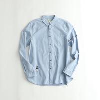 春款男士长袖衬衫 纯棉牛津纺衬衣 53