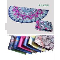 【支持礼品卡】圆形70cm麂皮绒橡胶瑜伽垫冥想垫防滑,定制鹿皮绒瑜伽垫7gi