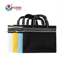 A4手提文件袋拉链袋定制双层资料袋文件包手提公文袋F7641 颜色随 机 一个